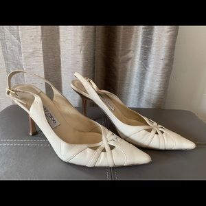 Jimmy Choo sling back Leather Heels size 40 (9)